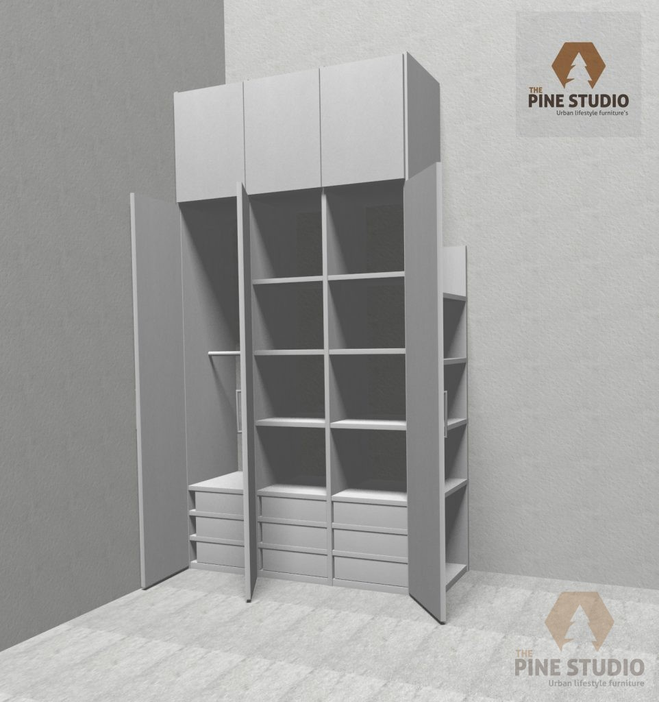 Pinewood and Melamine Furnitures, Custom Designed for Mr Vijith Kandy.