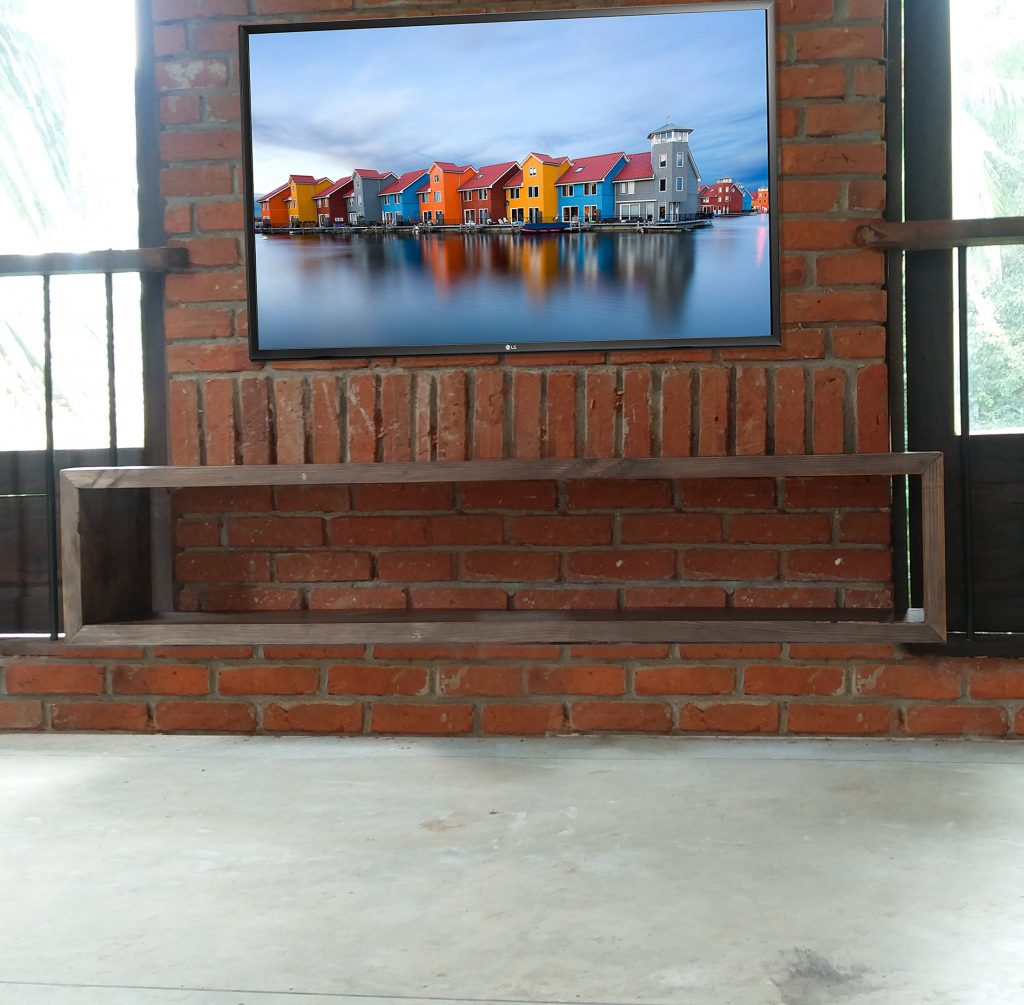 Pinewood Floating TV Stand. Wall mounted, made in sri lanka, colombo , thalawathugoda.