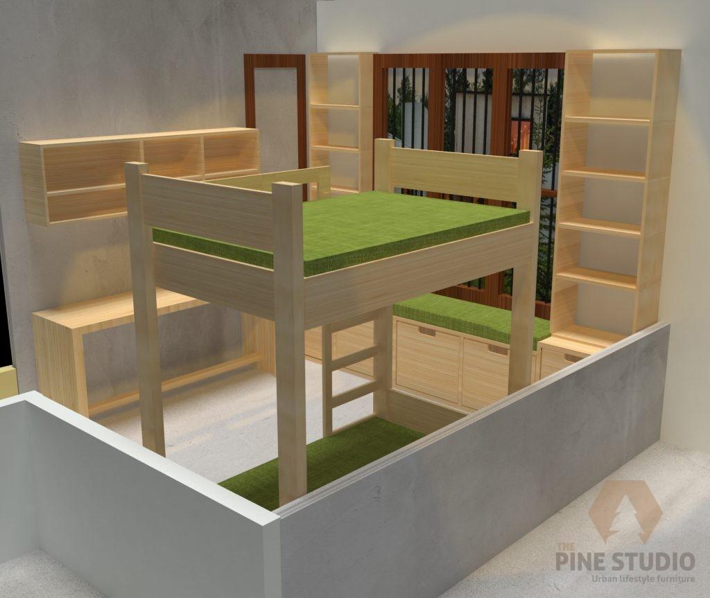 Cupboard, Floating Table, Bed, Pinewood colombo, Sri lanka