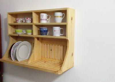 Custom made Pinewood Plate Rack