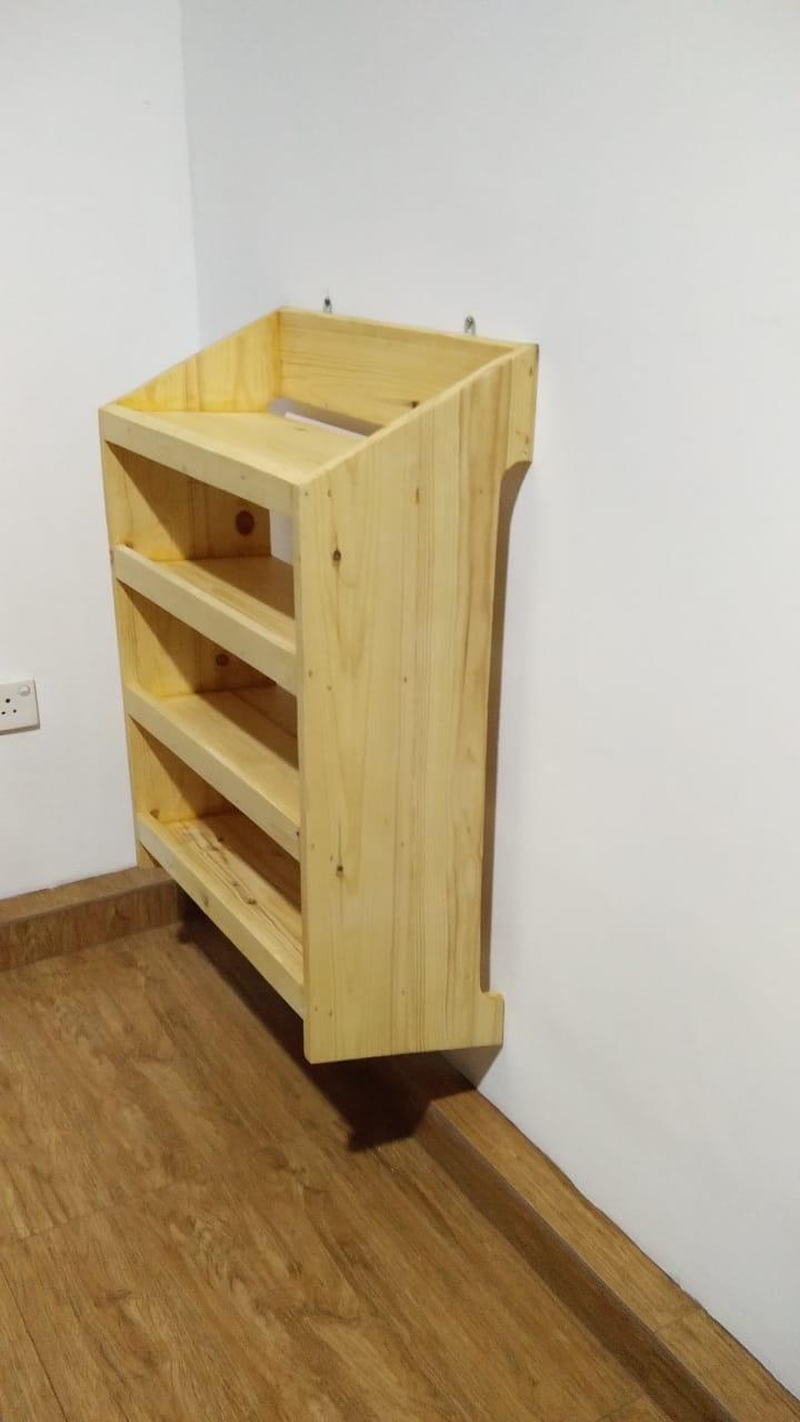 Image of: Custom Made Wall Mounted Shoe Rack The Pine Studio