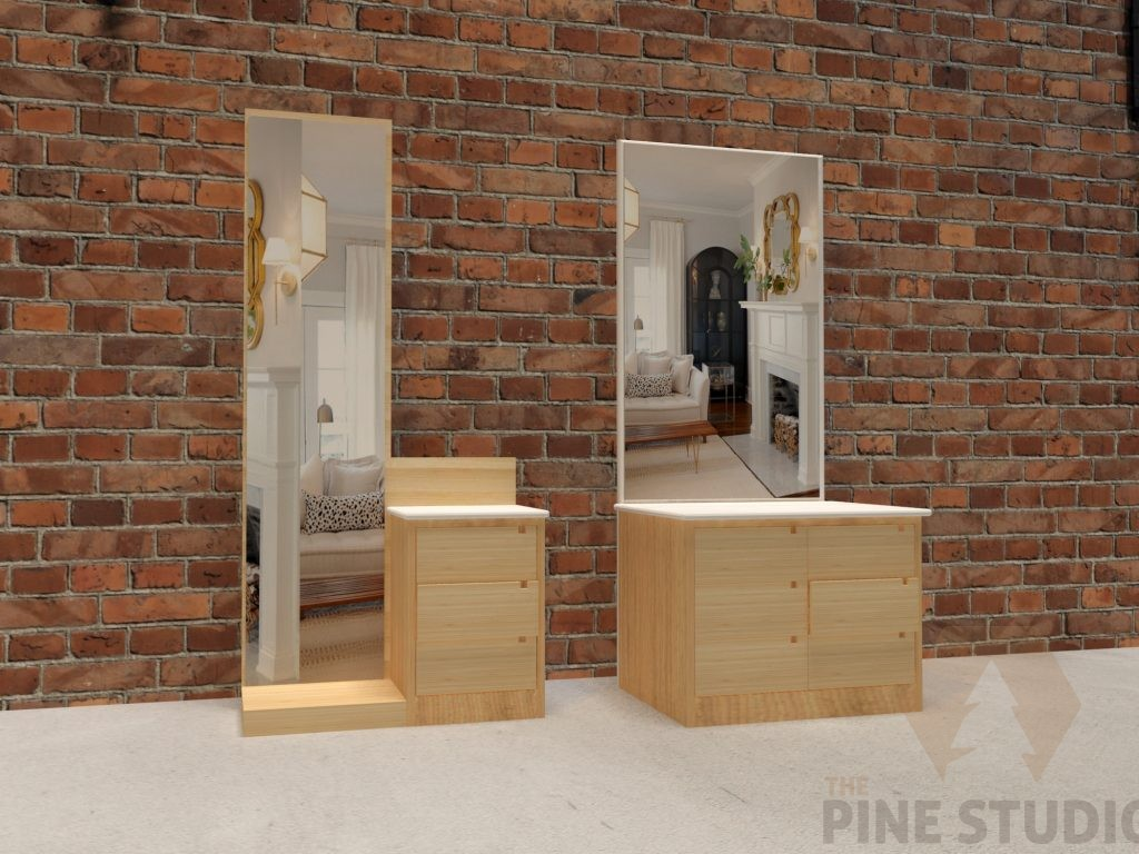 Pinewood Dressing Table, Dressing table, oine wood custom designed in sri lanka