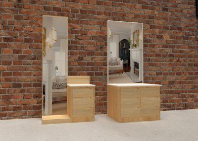 3D Designed Mirror Table