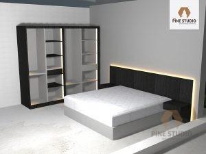 Wardrobe, Closet, Study Table, Bench, Study Table all made out of PineWood. Battaramulla Sri Lanka. the pine studio
