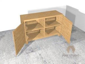 the pine studio, pinewood, 3d design