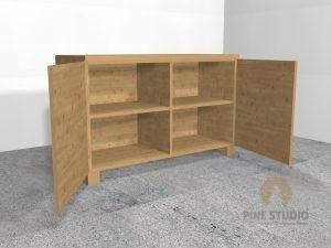 Pinewood Cupboard for glassware storage colombo sri lanka, the pine. Studio, Pallet Shop