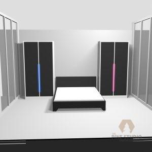 3D Bedroom design, Melamine and MDF white furnitures. made in sri lanka, colombo , kandy. Black Furnitures