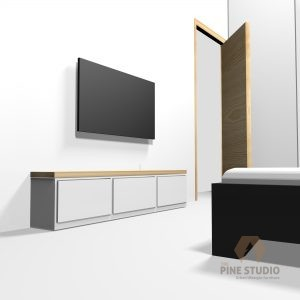 """3D Bedroom design, Melamine and MDF white furnitures. made in sri lanka, colombo , kandy Glossy TV Stand, night Stand, Beautiful, top elevation, white room 43"""" TV, 36"""" TV colombo."""