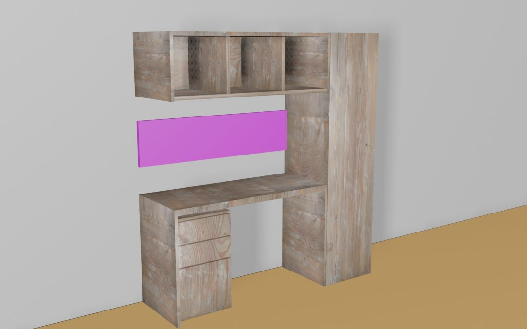 Study Table and Book Rack Design