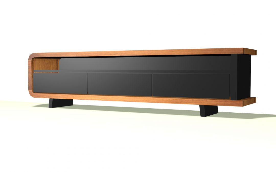 Black TV Console / Media Unit 3D Designs