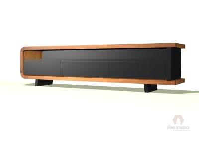 Black TV Console / Media Unit 3D Designs
