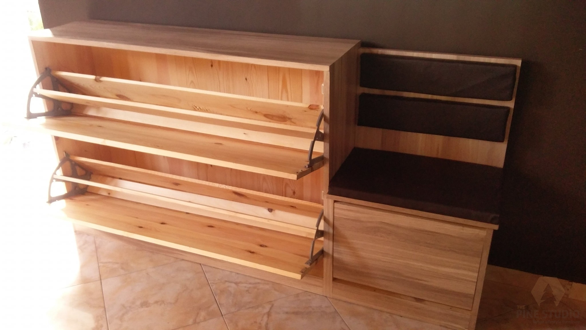 Modern Shoe Rack With A Seat The Pine Studio