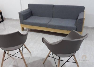 Pinewood light wood Sofa