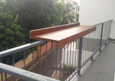 Deck Rail Bar Counter