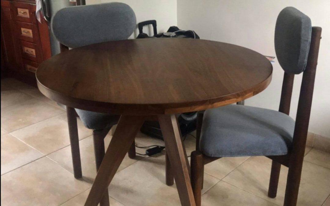 Circle Teak Dining Table