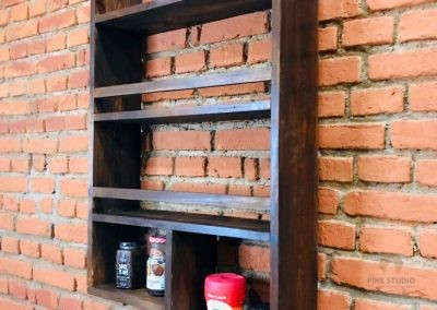 Kitchen Rack made out of pinewood. made in sri lanka, custom made