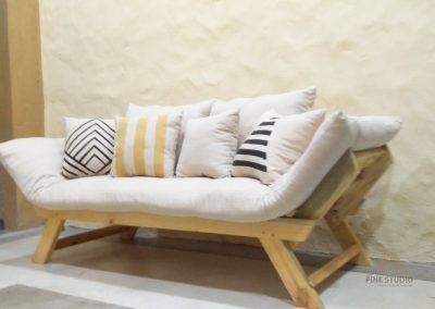 Sofa Bed, Convertible Bed, Pinewood, Custom made furniture, First time in Sri Lanka, Soft padded cushion
