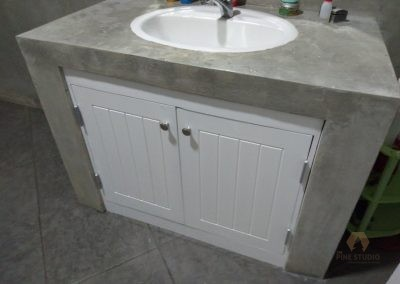 Vanity Cupboard made out of Eco Board/ WPC board white painted
