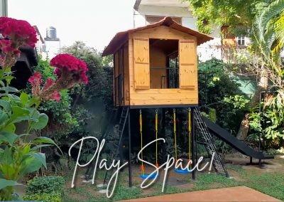 Kids Play House, Kids Tree House, Play Space, Kids Space. Ladder, Rock Climbing, Rope Ladder, Kids Slide. Hammock, Tiny House.