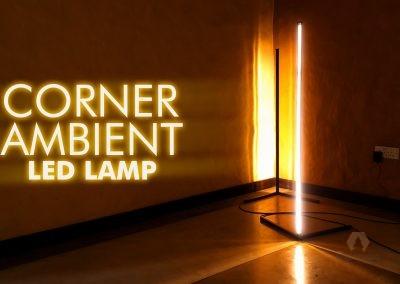 CORNER RGB/LED LAMP, CORNER MULTI COLOUR LAMPSHADE