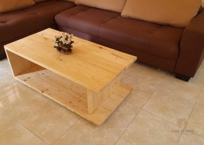 C STYLE/SHAPED COFFEE TABLE MADE OUT OF PINEWOOD