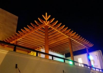 Douglas Fir & Pinewood MIXED Wooden PERGOLA installed in Negombo
