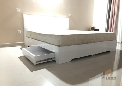 Kids furniture, White elegant custom made furniture in kandy, digana, MDF heavy glossy furniture