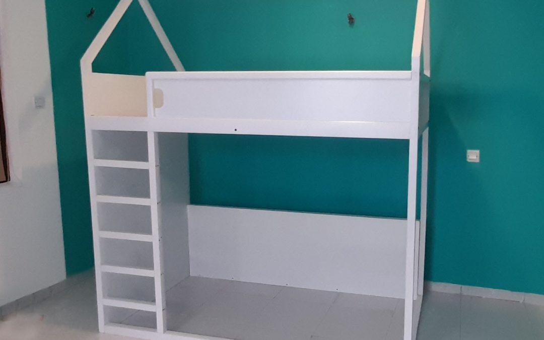 Kids White Bunk Bed