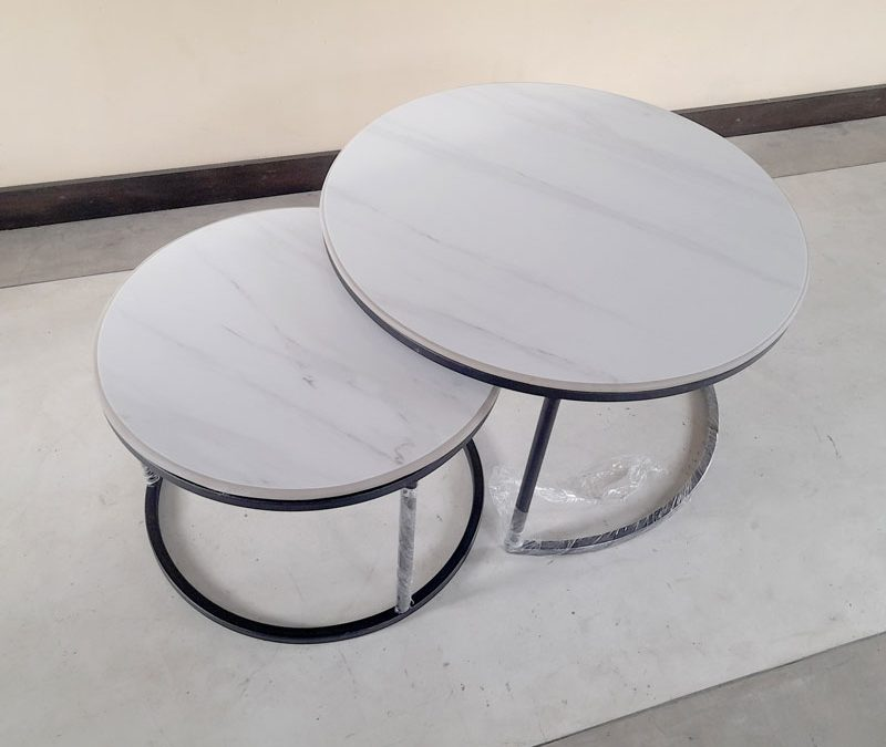 Tile top Coffee table, Metal frame coffee table