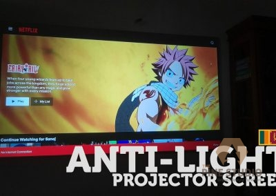 Anti-light, Anti lite Projector screen installation