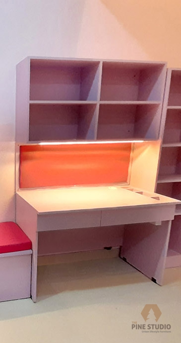Kids Study room design, kids study table, kids book rack, kids space colourful studytable, wfh, workfrom home table (12) - Copy