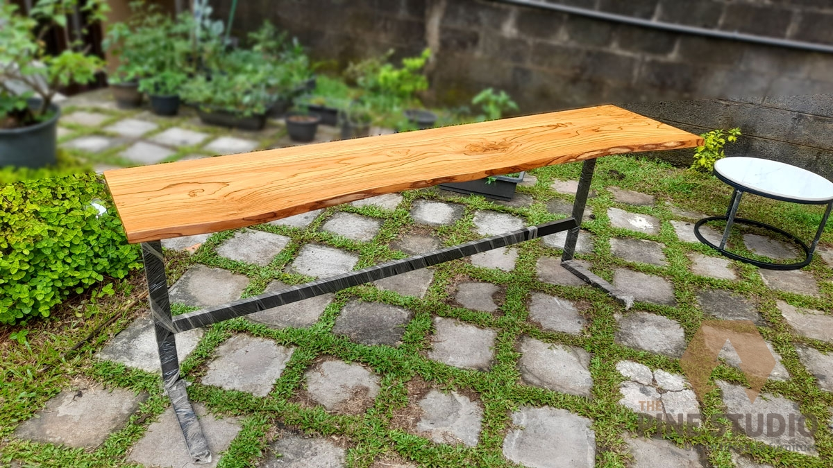 Life edge table, teak natural edge side table (1)