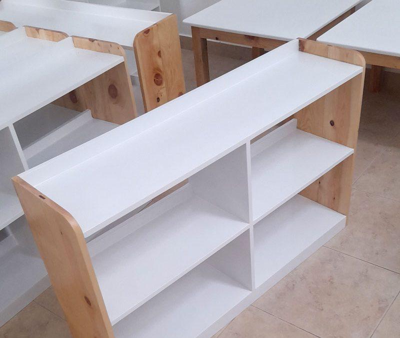 Kindergarden, Kindergarten Furniture, Kids Table, Kids book rack, Kids Chairs, White furniture, white tables made in sri lanka, colombo