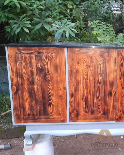 Upcycled furniture, furniture makeover, old furniture uplifting, antique furniture, epoxy furniture, black epoxy, river epoxy sri lanka